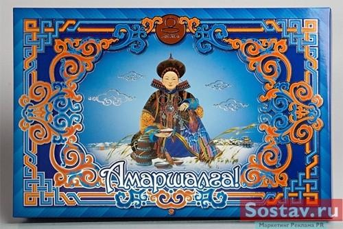 """Упаковка для набора конфет """"Амаршалга"""" была изготовлена в типографии """"Харменс"""". // Advis.ru"""